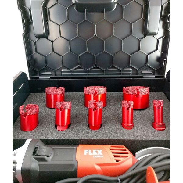 Diamantbohrkronen Set Fliesen M14  in FLEX L-BOXX |...